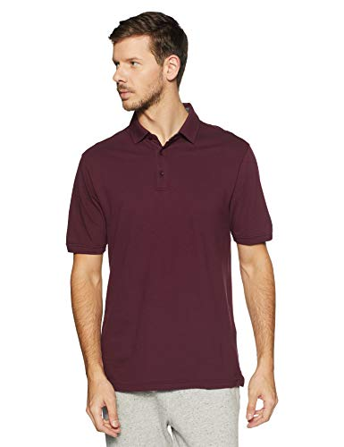 Under Armour Men's Solid Loose Fit Polo Active Shirt UA 1319027 (Dark Maroon, XXL)