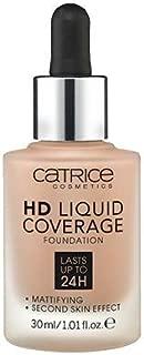 Catrice HD Liquid Foundation (040 Warm Beige)- High & Natural Coverage, Vegan