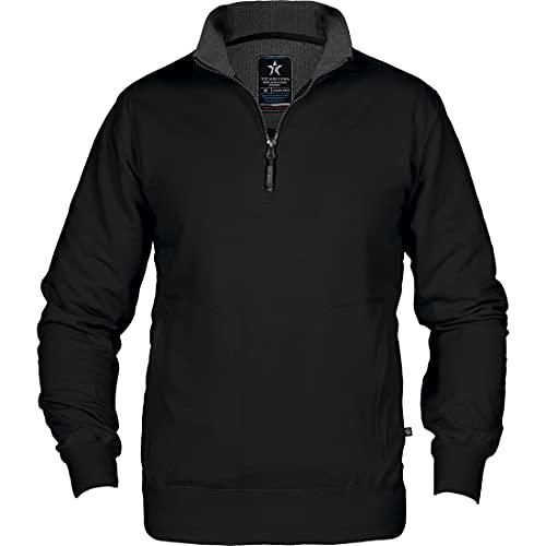 Texstar SW14 Unisex Crew T-Ausschnitt Sweatshirt, Größe 3XL, Schwarz