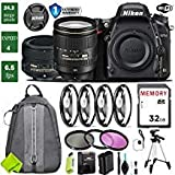 Nikon D750 DSLR Full Frame Camera with 24-120mm VR Lens & Nikon 50mm f/1.8 Lens + 4 Piece Macro Close-Up Set + 3PC Filter Kit (UV FLD CPL) + Tripod + Backpack + Extended Bundle 1