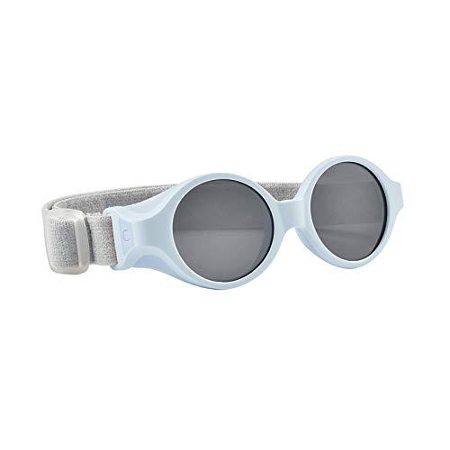 Béaba - Gafas de sol para bebé de 0 a 9 meses, protección 100 % UV – CAT 4, protección lateral, confort óptimo, banda elástica ajustable, color azul perla