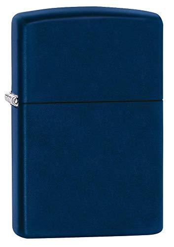 Zippo 239 Navy Blue Matte Accendino Antivento, Ricaricabile a Benzina, Ottone, Blu Scuro, Regular 5.7 x 3.7 x 1.2 cm