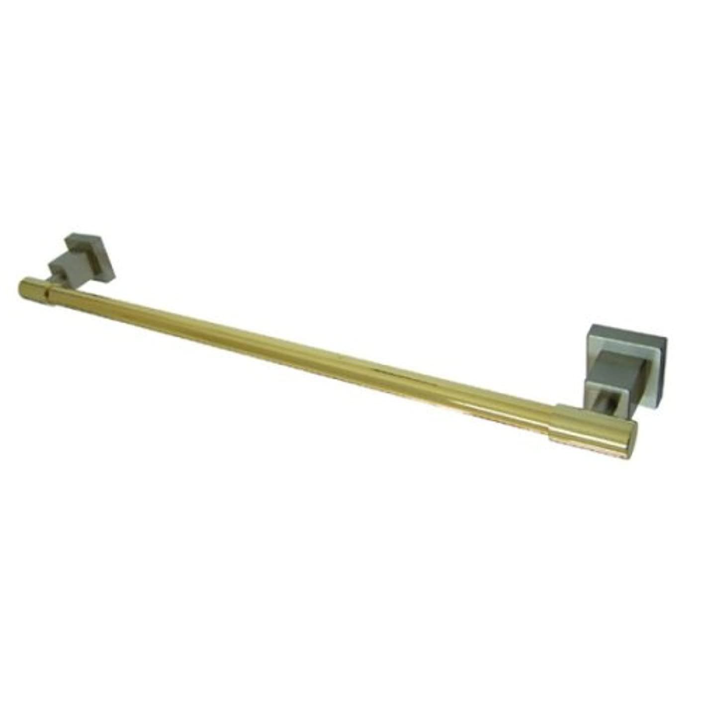 Kingston Brass BAH8641SNPB Claremont 24-Inch Towel Bar, Satin Nickel and Polished Brass