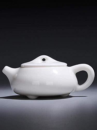 ZQADTU Tetera con colador Tetera pequeña, Tetera, Porcelana Blanca, Olla Individual, Tetera Artesanal, Juego de té, Olla de Piedra