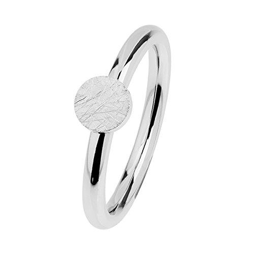 Ernstes Design Evia Ring, Vorsteckring, Beisteckring, Edelstahl Verkratzt - Optik R471 (55 (17.5))