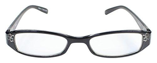 パール 老眼鏡 リーディングラス ブルーライトカット CSTADO スクエア ブラック +3.0 度数 LT-P010BK +3.0 女性用