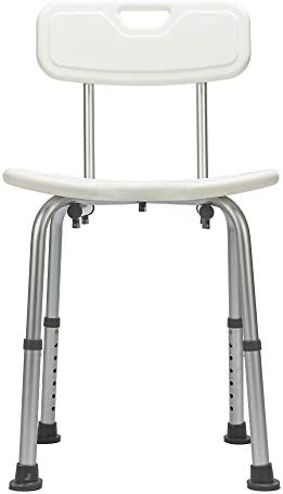 Hygienic Shower Seat Adjustable Bath Seat Slip Resistant Shower Chair with Removable Back Rest product image