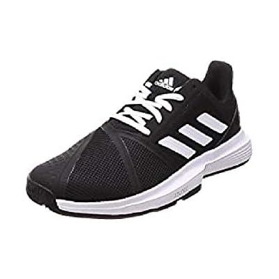 Adidas CourtJam Bounce M, Zapatos de Tenis Hombre, Core Black/FTWR White/Matte Silver, 40 2/3 EU