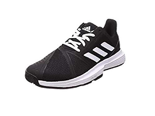 Adidas CourtJam Bounce M, Zapatos de Tenis Hombre, Core Black/FTWR White/Matte Silver, 47 1/3 EU