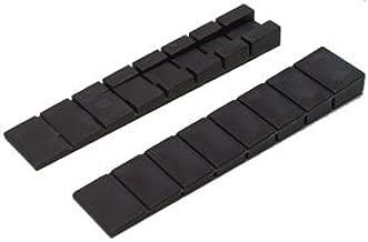 50 schwarze Möbelkeile Unterlegkeile Keil Justierkeile Montagekeile Kunststoff