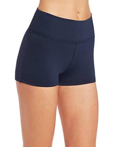 Seafolly Women's High Waisted Roll Top Boyleg Bikini Bottom Swimsuit, Black, 8 US