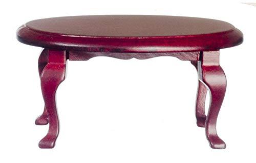 Melody Jane Maison de Poupées Acajou Ovale Reine Anne Table Basse Miniature Salon Mobilier