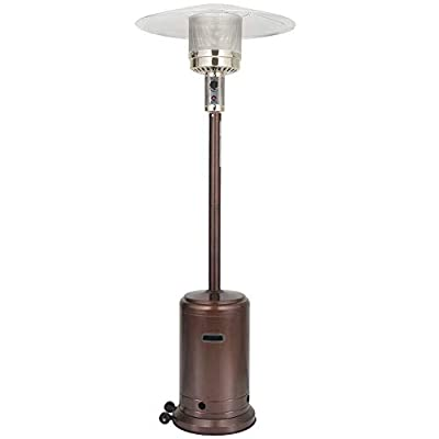 UPHA 46000 BTU Commercial Bronze Outdoor Patio Heater with Sandbox and Wheels, 87-inch…