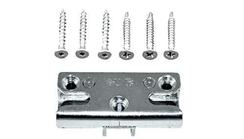GU Pilzkopf Schließblech Schliessplatte 9-36098 Gr. 64 oder auch 9.36098 64 (6-27831-64-0-1) incl. SN-TEC Montagematerial
