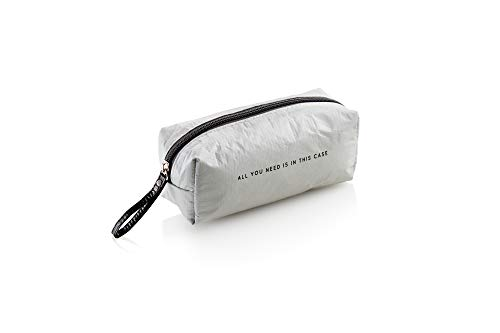 MIQUELRIUS – Rectangular Pencil Case – Soft and Light Texture, Tyvek, Naturally, Grey