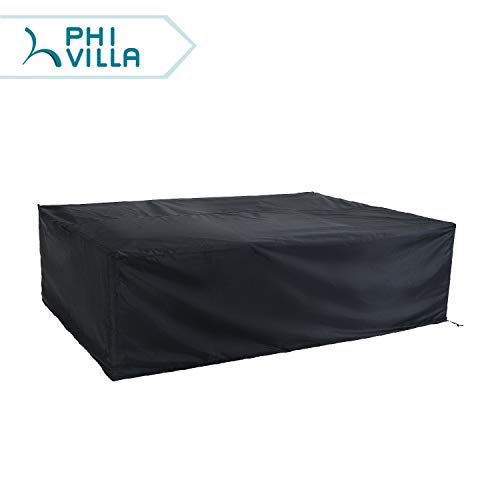 PHI VILLA Waterproof Patio Sofa Covers Extra Large Outdoor Furniture Sectional Couch Cover Fits up to 85.5 x 60 x 26 Inches