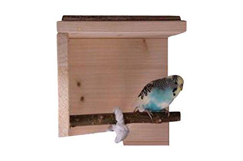 Schlafhaus mit Naturholz Sitzstange für Wellensittich, Nymphensittich & Co. | Tolles Vogelzubehör für die Voliere …