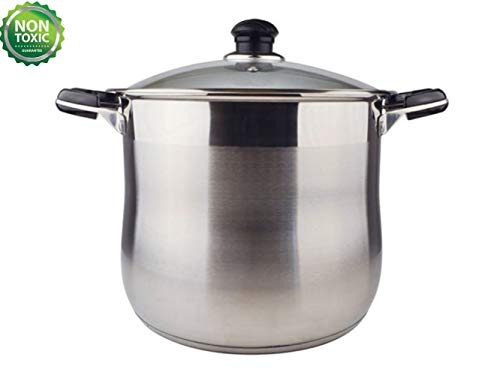 20 Quart Commercial Grade Stainless Steel High Stock Pot/Non-Toxic Cookware/Dishwasher Safe Heavy-Duty