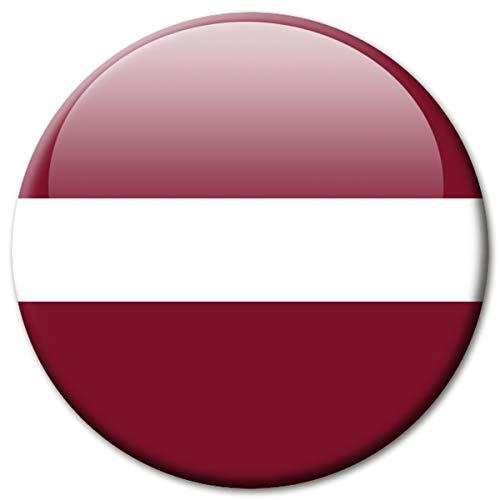 Kühlschrankmagnet Lettland Flaggen Magnet Länder Reise Souvenir Flagge für Kühlschrank stark groß 50 mm