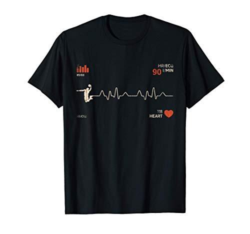 Baloncesto retro vintage - Latido del corazón de los Camiseta