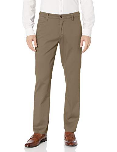 Dockers Men's Slim Fit Easy Khaki Pants, Timber Wolf (Stretch), 34W x 32L