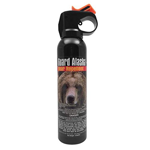 GUARD ALASKA Mace Brand Maximum Strength Bear Spray and Knife Kit – Accurate 20' Powerful Pepper Spray – Great for Self-Defense When Hiking, Camping, and Other Outdoor Activities