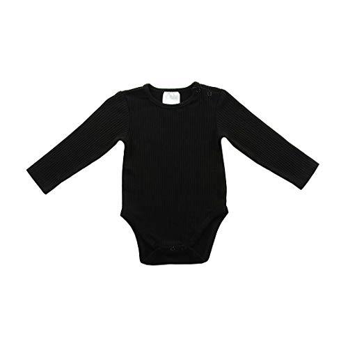 Jollein Body Shirt met lange mouwen, maat 50/56, Rib Zwart