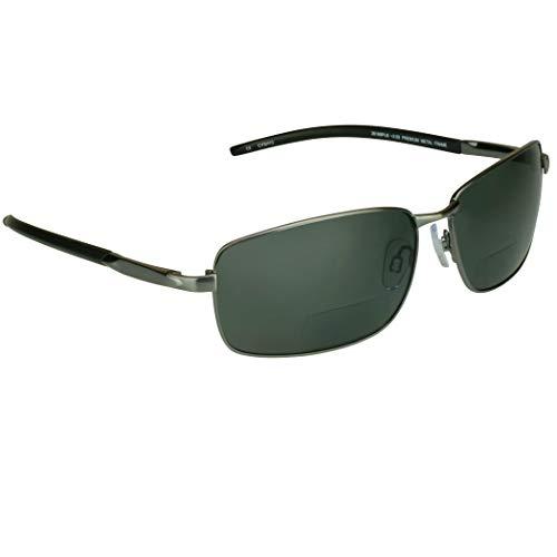 proSPORTsunglasses Gafas De Sol Polarizadas Bifocales Con Lentes Polarizadas Premium Tac Y Duradero Níquel Marcos De Metal De Alta. (3,00) De Los Hombres Medio Negro