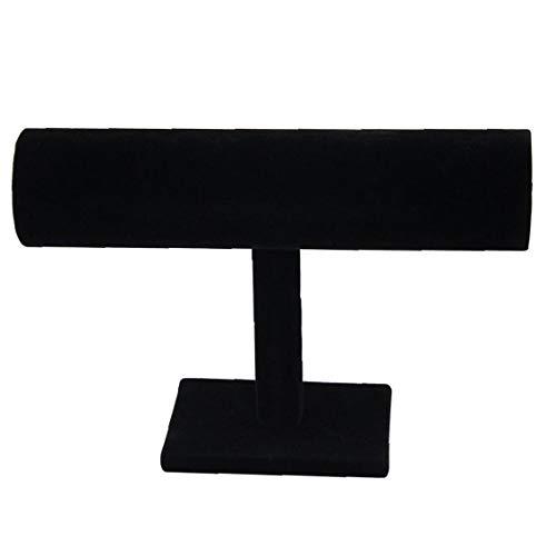 JRXyDfxn T-Bar Armband Halskette Schmuck Samt-Ausstellungsstand Armband Ständer Schmuckständer Schmuck-Speicher-Halter-Standplatz Für Armband-Uhr-Oberteil-Farbe Schwarz