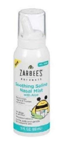 Zarbee's Naturals Soothing Saline Nasal Mist with Aloe, 3 Ounce Canister