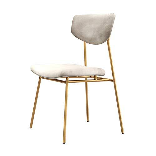 Einfacher Esszimmerstuhl Samt Rückenlehne Akzent Stuhl Gaststuhl Küche Esszimmerstühle Vanity Stuhl für Zimmer Küche Vanity Patio Seitenstuhl Blau