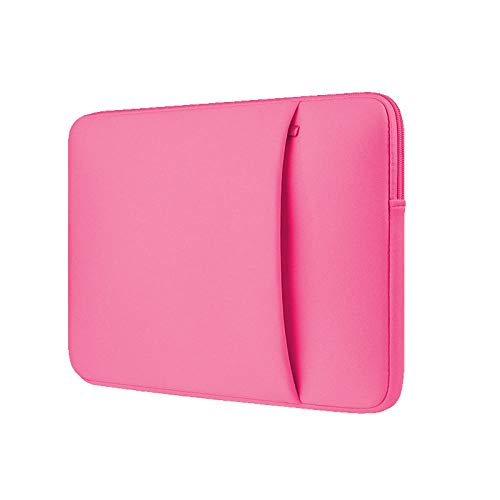 Yinghao Laptop Sleeve 11 12 13 14 15 15 6 inch notebook case Soft bag For Macbook Air Pro Retina Ultrabook 12 9 Tablet Pocket@rose Red_For Macbook15 Retina