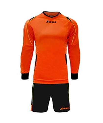 Zeus Kit GK Paros Ensemble de gardien de but pour homme et enfant avec maillot et short et short de football en salle Orange/noir, Orange (Orange) - GK PAROS