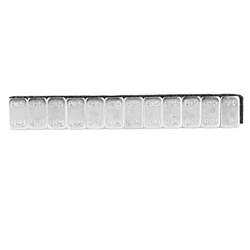 Eulbevoli Etiqueta Adhesiva de Equilibrio de Rueda, Tira de Equilibrio de Peso de Rueda práctica más confiable para Rueda para Llantas(5g * 12 en una Caja)