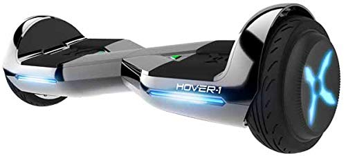 Hover-1 Dream Hoverboard Electric Scooter Light Up LED Wheels, Gun Metal, 25 x 9 x 9
