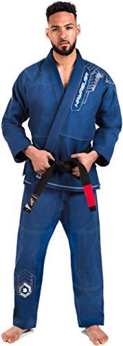 Hayabusa Warrior Gold Weave Jiu Jitsu Gi - Blue, A2