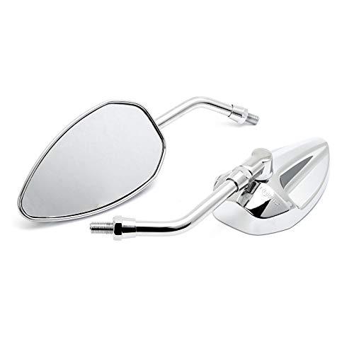 Custom Spiegel Conehead Chrom mit Zulassung M10 Motorrad Harley TÜV ECE Universal