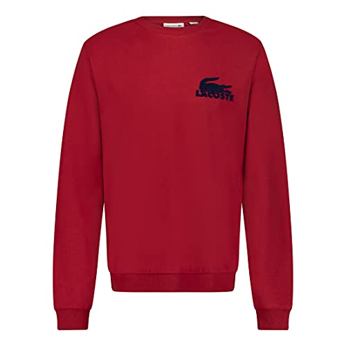 Lacoste SH7477 Sweat-shirt pour homme avec logo, Ladybird/Methylene (Rsb), M