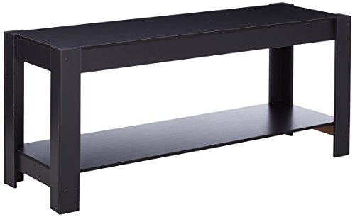Furinno Parsons Entertainment Center TV-staander/koffietafel, hout, zwart, 36,32 x 36,32 x 48,01 cm