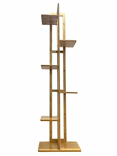 TVPEHP Soporte de planta de bambú para plantas de múltiples niveles de estantes de plantas para jardín de patio interior y exterior
