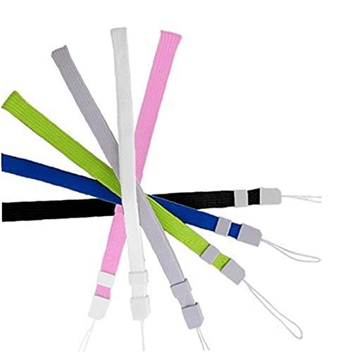 FeelMeet 6 stücke Universal Hand Handgelenkband Wristlet Armband mit Schloss für Wii-Fernbedienung, Handy, MP3, Digitalkamera zufällig Colorcetier- und schmutzig