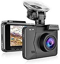 4K Dash Cam,AZDOME Ultra HD 2160P Dash Camera Built-in GPS and WiFi 170 °Ultra HD Wide Angle,2.4