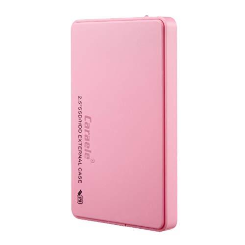 Shiwaki Disco Duro Externo Portátil 2.5'', Tipo USB 3.0 SATA HDD Almacenamiento para PC, Chromebook - Rosado 2T