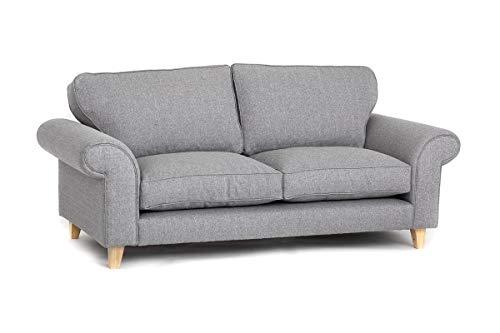 Abakus Direct | Angie 3-Sitzer, 2-Sitzer-Sofa, Sessel oder Liebessitz, Kuschelstuhl in Hellgrau (3-Sitzer)