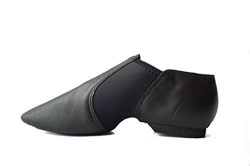 DANCEYOU Jazzschuhe Schwarze Tanzschuhe aus feinem Leder mit Geteilter Sohlen für Kinder und Erwachsenen EU25 bis EU41 200
