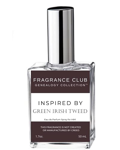 Fragrance Club Genealogy Collection Inspired by Green Irish Tweed for Men, EDP 1.7 oz., Mens fragrance, It is a classic fragrance that never goes out of style