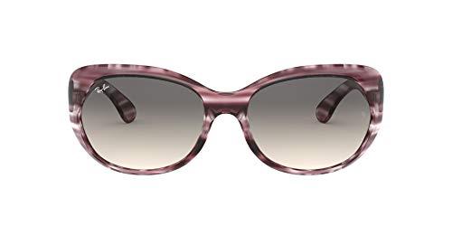 Ray-Ban Women's RB4325 Sunglasses, Striped Bordeaux Havana/Grey Gradient Dark Grey, 59 mm