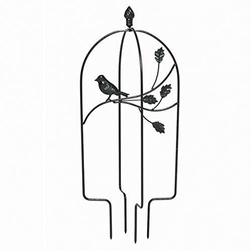 XLSQW Set of 2 Birds Design Metal Decorative Garden Trellis Climbing Plant Rose Support Obelisk, for Climbing Plants, Roses, Ivy and Clematis,Black