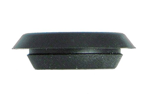 1/2 0.5 inch Flush Mount Black Plastic Body and Sheet Metal Hole Plug Qty 25 by Caplugs