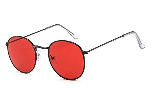 RUK Retro Espejo Gafas de Sol para Mujer/Hombre Gafas de Sol Redondas clásicas para Exteriores